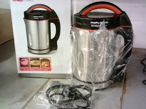 MORPHY RICHARDS 48822 SOUP MAKER, STAINLESS STEEL 1000W, 1.6L
