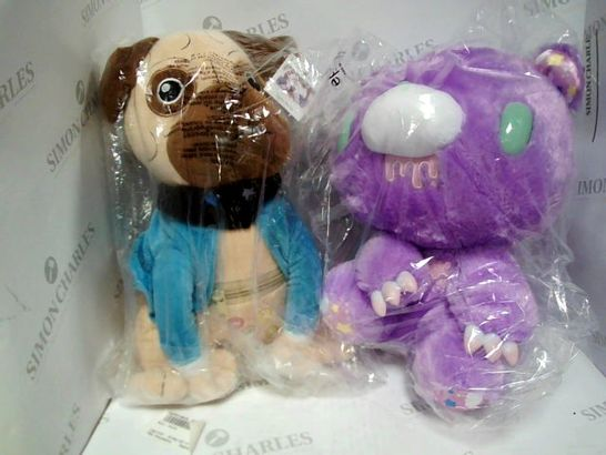 LOT OF 2 STUFFED TOYS TO INCLUDE: PRESLEY THE PUG