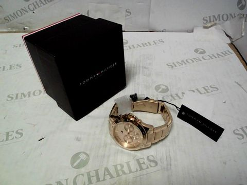 TOMMY HILFIGER HAVEN ROSE GOLD STAINLESS STEEL WATCH
