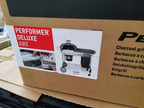 BOXED WEBER PERFORMANCE DELUXE GBS CHARCOAL GRILL