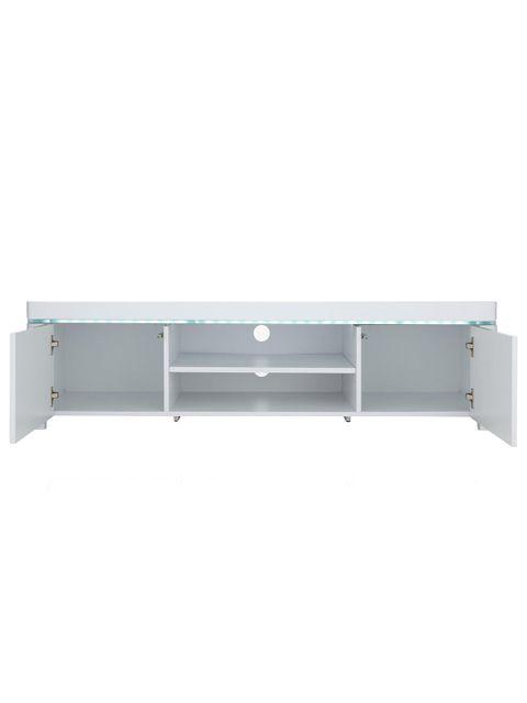 BOXED GRADE 1 ATLANTIC WHITE GLOSS TV UNIT (1 BOX)