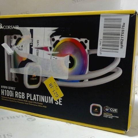 CORSAIR HYDRO 100I RGB PLATINUM SE LIQUID CPU COOLER