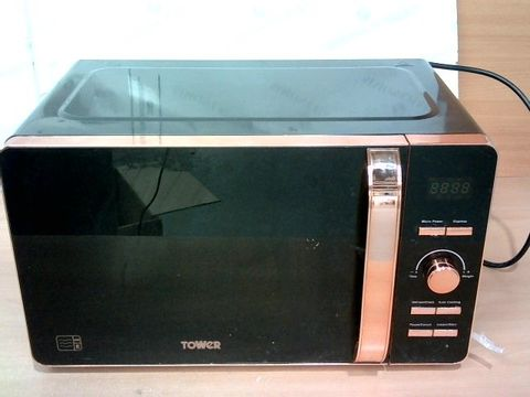 TOWER T24021 DIGITAL SOLO MICROWAVE - BLACK AND ROSE GOLD