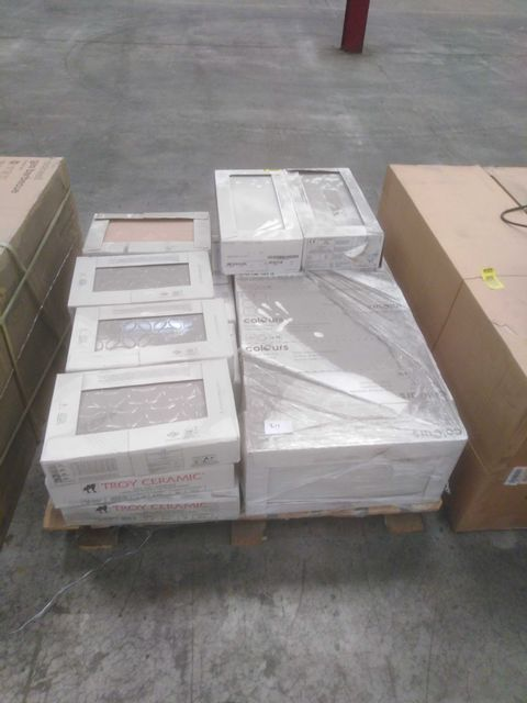 PALLET OF APPROXIMATELY 24 PACKS OF ASSORTED TILES TO INCLUDE;