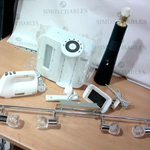 LOT OF APPROXIMATELY 10 ASSORTED HOUSEHOLD ITEMS, TO INCLUDE TOMMEE TIPPEE MACHINE, LAMP, MOTOROLA BABY MONITOR, ETC