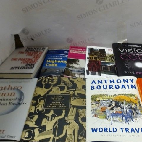 LOT OF APPROXIAMTELY 20 ASORTED NON-FICTION BOOKS ETC