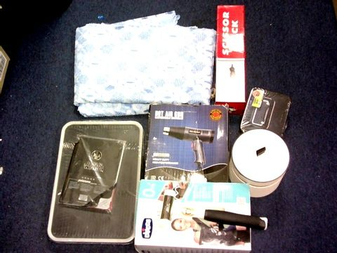 LOT OF APPROXIMATELY 25 ASSORTED ITEMS TO INCLUDE: CHICCO EASY FIT, HOT AIR GUN, JACK,CURTAIN,LADDER ETC