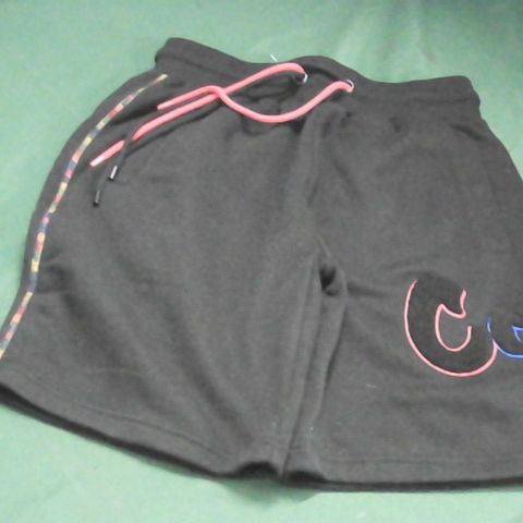 COOKIES BLACK TRACKSUIT SHORTS SMALL