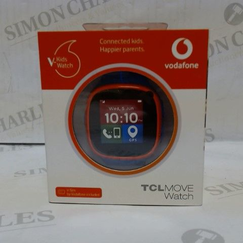 BRAND NEW BOXED VODAFONE TCL MOVE KIDS SMART WATCH - BLUE/RED