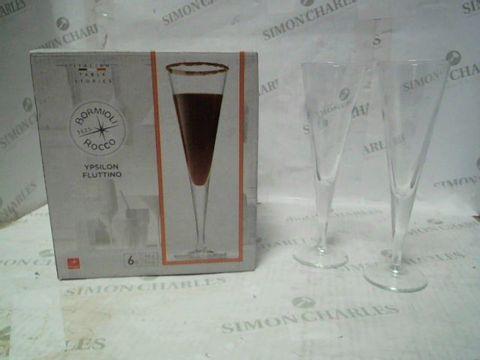 BORMIOLI FLUTE GLASSES 6PC SET