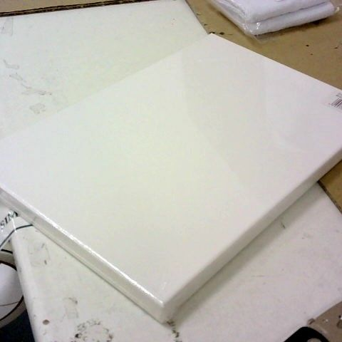 BLANK WHITE CANVAS 20X30 CM PLASTIC WRAPPED