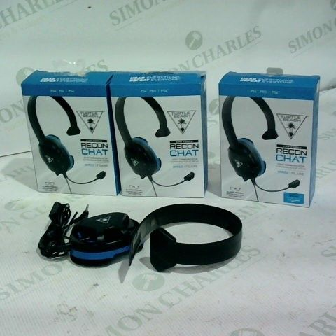 3 X EARFORCE RECON CHAT WIRED HEADSET