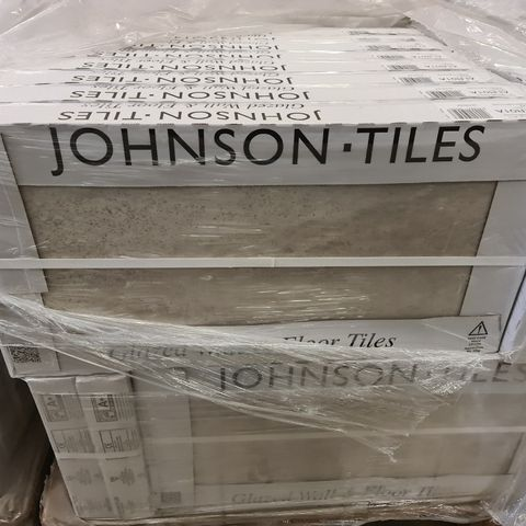 PALLET OF APPROXIMATELY 40 BRAND NEW ASHLAR WARM TAUPE TEXTURED TILES - 60X30CM