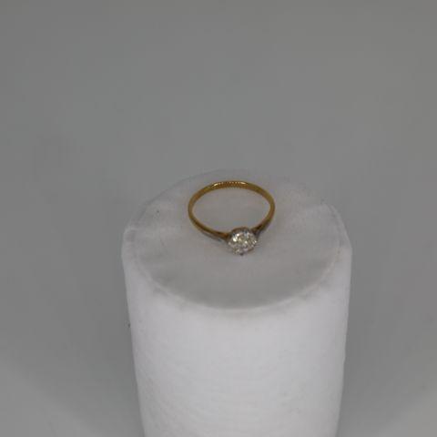 ANTIQUE DIAMOND SET CLUSTER RING