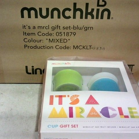 BRAND NEW - MUNCHKIN BLUE/GREEN CUP GIFT SET - BOX OF 6