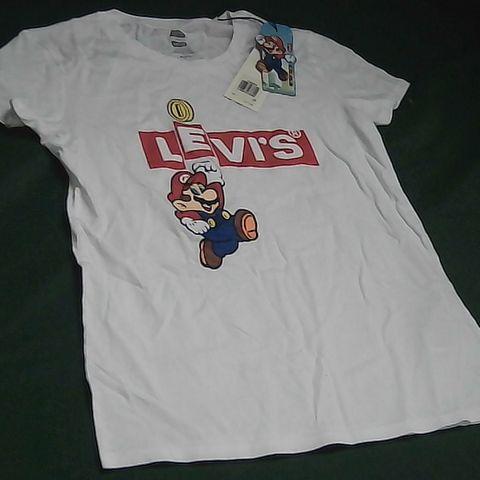 LEVIS WHITE SUPER MARIO LADIES T-SHIRT XS