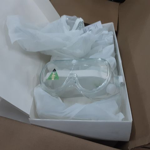 PALLET OF 6 BOXES OF ASSORTED SAFETY GOGGLES