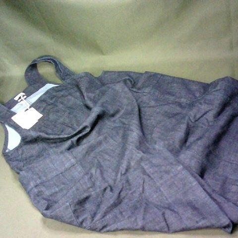 TOAST DENIM PINAFORE DRESS IN INDIGO - 16