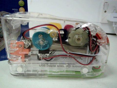 RAPESCO 1450 626EL - USB AUTOMATIC/BATTERY STAPLER - TRANSPARENT