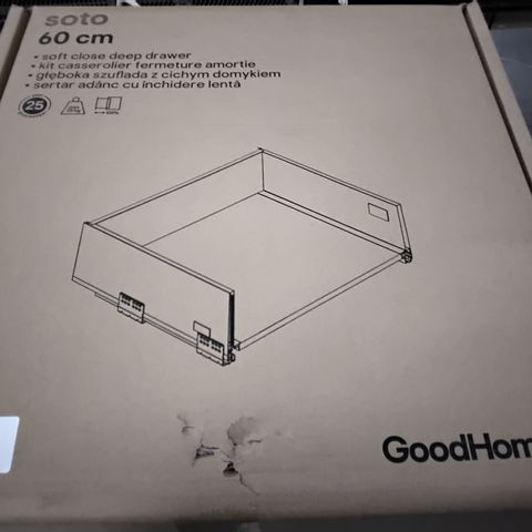 BOXED GOODHOME SOTO 60CM SOFT CLOSE DEEP DRAWER