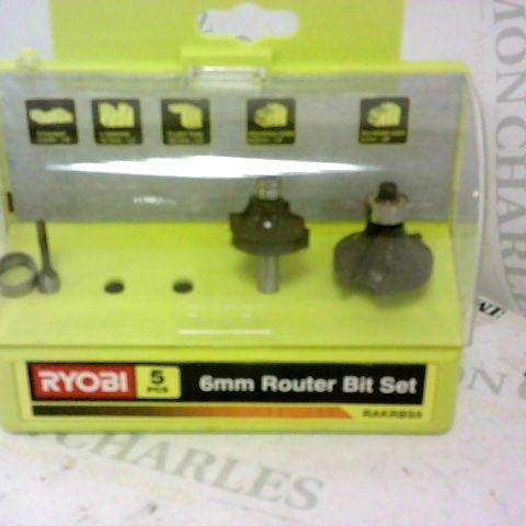 RYOBI RAKRBS5 6MM ROUTER CUTTERS