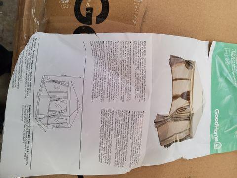 BOXED GOODHOME PRESTON 3 × 3M TAUPE GAZEEBO