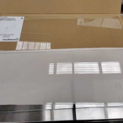 BOXED 2 X GOODHOME CICELY CABINET GLASS SHELVES (1 BOX)