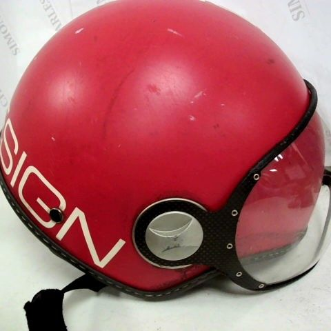 MOMO DESIGN RED HELMET WITH VISOR - SIZE NOT SPECIFIED