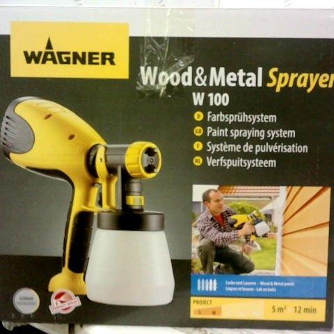 WAGNER WOOD & METAL SPRAYER W100