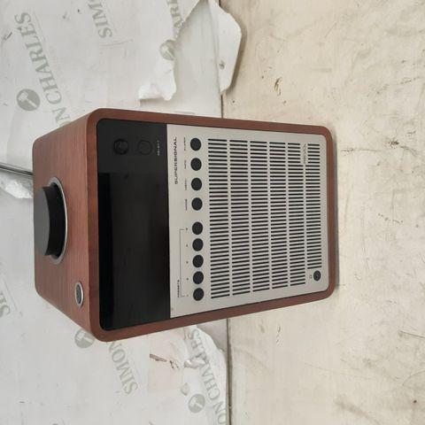 REVO SUPER SIGNAL DELUXE DAB TABLE RADIO - WALNUT/SILVER