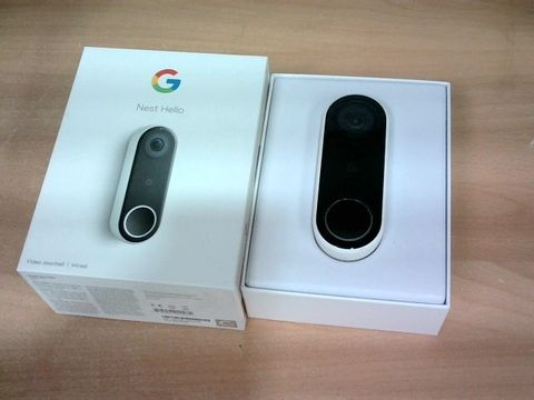 BOXED GOOGLE NEST HELLO VIDEO DOORBELL