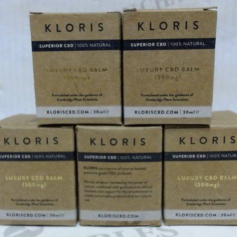 KLORIS LUXURY CBD BALM 300MG 150ML (5 X 30ML)