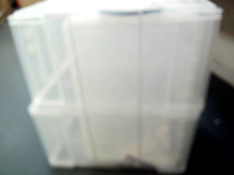 REALLY USEFUL CLEAR PLASTIC STORAGE BOXES
