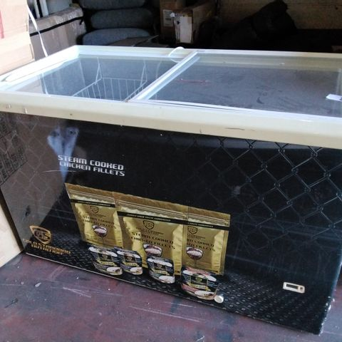 BRANDED TOP LOADING DISPLAY CHEST FREEZER