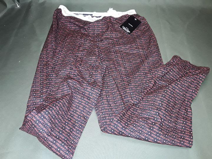 CALVIN KLEIN SLEEPWEAR PANTS IN RED - L/G