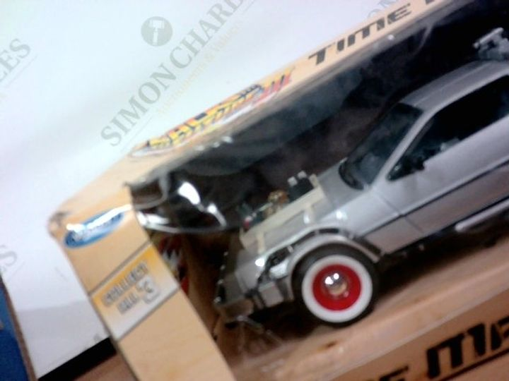 WELLY BACK TO THE FUTURE PART 3 TIME MACHINE COLLECTIBLE 1:24 DIECAST METAL