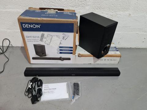 DENON DHT-S316 HOME THEATRE SOUND BAR SYSTEM - BLACK