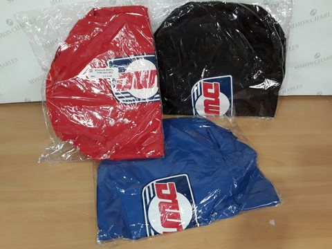LOT OF 3 DOUGLAS WHEEL TYRE BAGS IN VARIOUS COLOURS