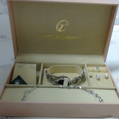 CHIME WATCH AND JEWELLERY SET
