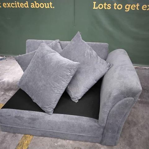 GREY FABRIC SOFA SECTION- NO SEAT CUSHIONS