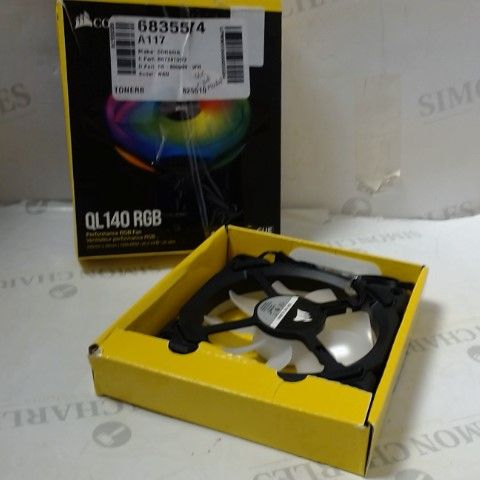 CORSAIR ICUE QL140 RGB, 140 MM RGB LED PWM FAN