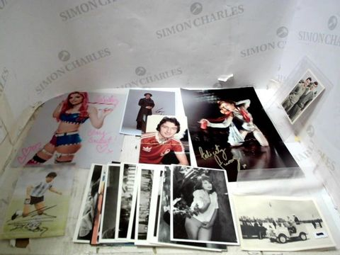 LOT OF ASSORTED POSTCARDS, SIGNED PHOTOGRAPHS ETC
