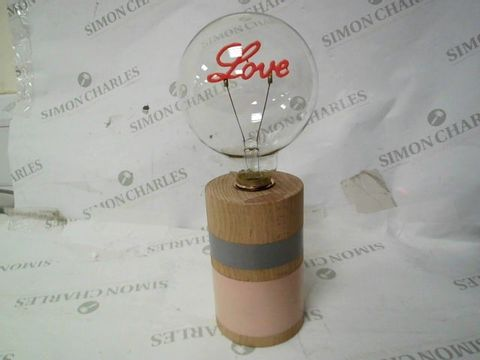 BUNDLEBERRY BY AMANDA HOLDEN NEON LOVE LAMP WITH WOODEN BASE
