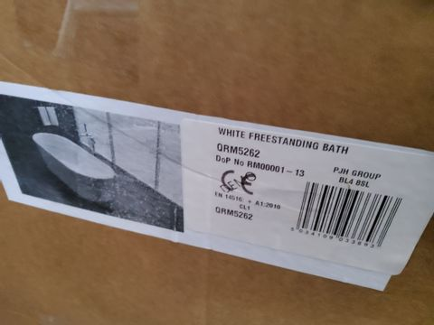 BOXED WHITE FREESTANDING BATH