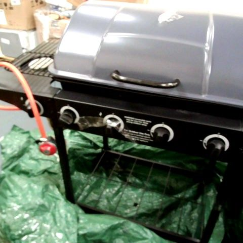 4-BURNER GAS BBQ WITH SIDE BURNER- COLLECTION ONLY