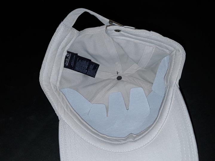 JACK WOLFSKIN BASEBALL CAP IN SAND - ONE SIZE 56-61CM