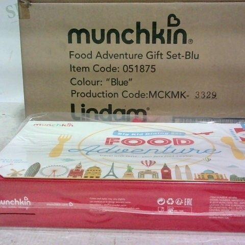BRAND NEW BOX OF 6 - MUNCHKIN FOOD ADVENTURE GIFT SET - BLUE