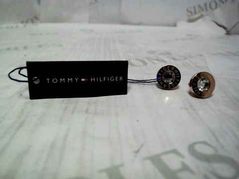 TOMMY HILFIGER LADIES ROSE GOLD IP STAINLESS STEEL EARRINGS