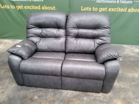QUALITY G PLAN WEXCOMBE REGENT CHARCOAL TWO SEATER SOFA