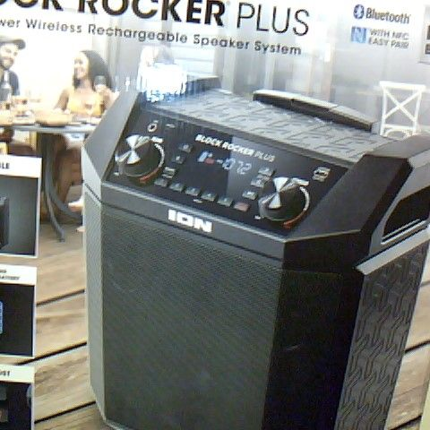 ION AUDIO BLOCK ROCKER PLUS - 100 W OUTDOOR BLUETOOTH SPEAKER